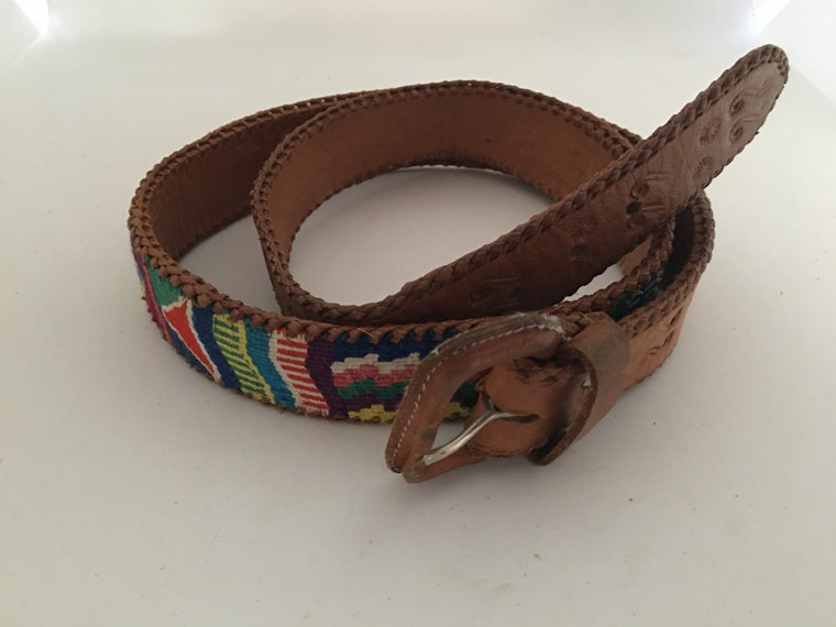 Vintage Leather Belt #C104 FREE POSTAGE AUS WIDE