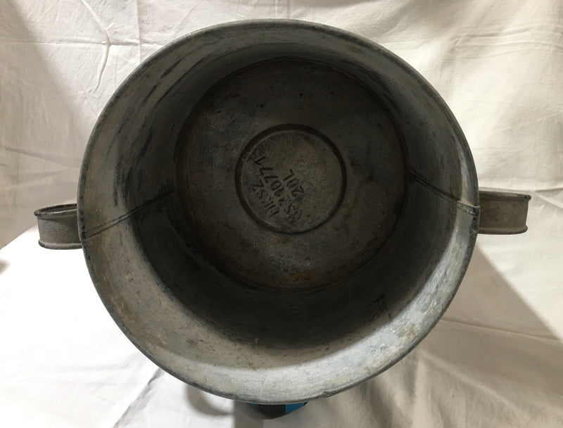 Copy of Copy of Vintage  European Galvanised Pot  #3018 (5)