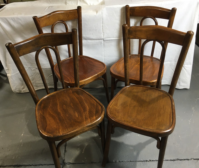Vintage Czech Thonet Chairs x 4  # 3024