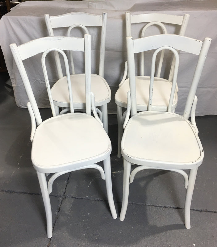 Vintage Czech Thonet Chairs x 4  # 3029