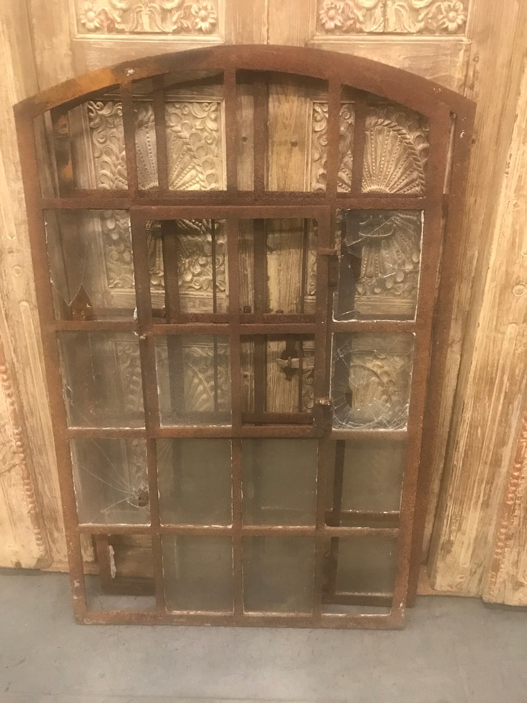 Vintage industrial European cast iron  windows  #2365