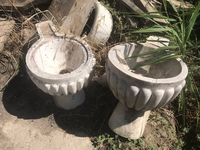Vintage industrial Turkish Marble toilets #2345 coming in mid november container