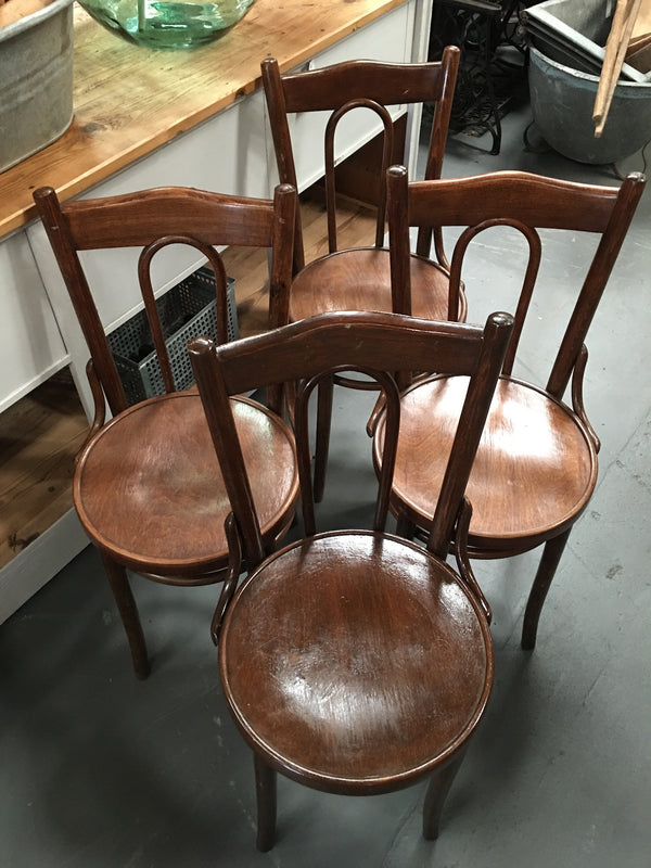 Vintage Czech Thonet Chairs x 4  # 3086