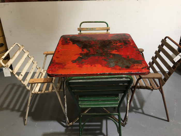 Vintage Metal Garden  Table  #3103 (1)
