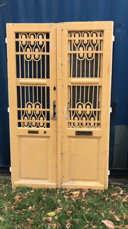 Vintage French wooden double house doors #2748