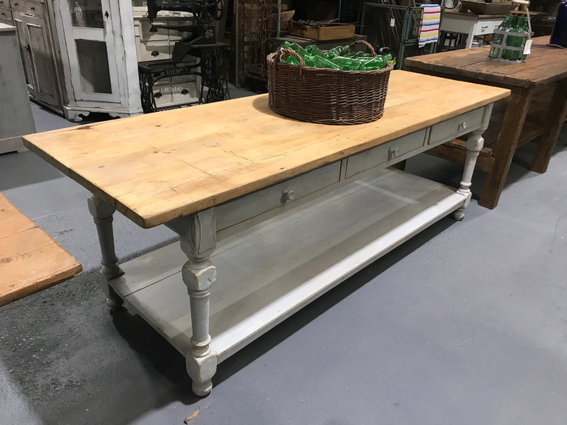 European kitchen island farmhouse dining table #2743