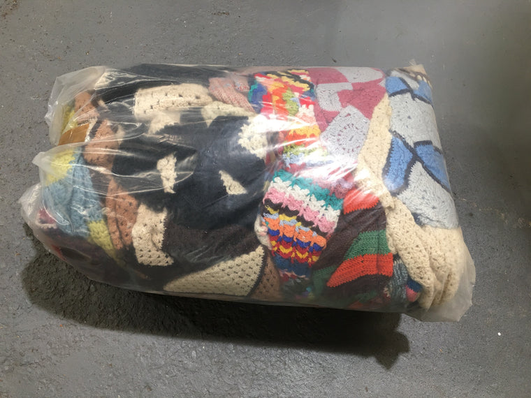 Copy of 20Kg Bag of Vintage Crochet Trows/Blankets #3004 (1)