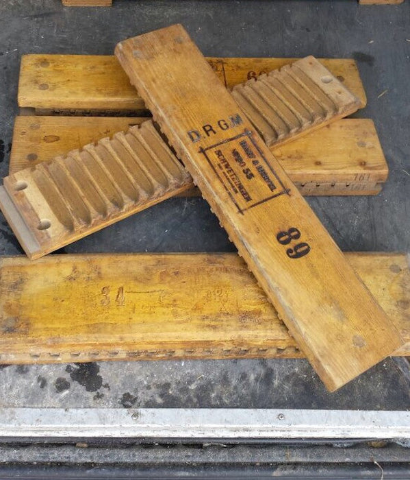 Vintage industrial German cigar moulds #1433