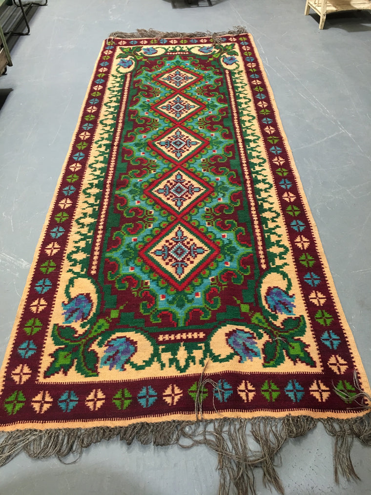 Vintage European Gypsy Carpet  #3300