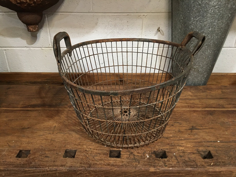 Vintage European Potato  Basket  #3270 (5)