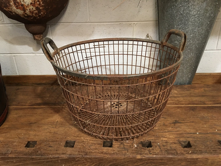 Vintage European Potato  Basket  #3270 (6)