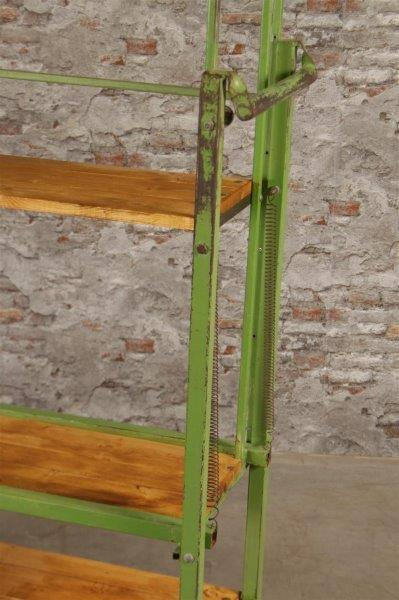 Vintage industrial Belgium bakers wooden / metal rack 1.5  mt #2531
