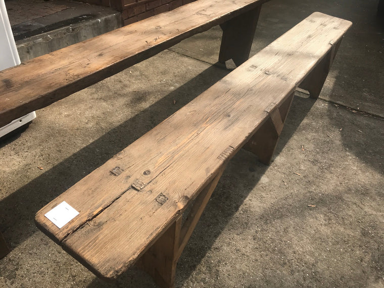 Vintage industrial European bench seat  #2294/1