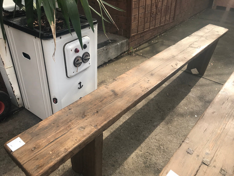Vintage industrial European bench seat  #2293/2