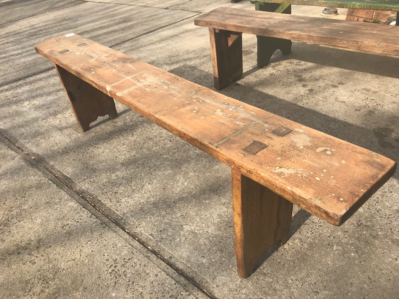 Vintage industrial European bench seat  #2292/3 in Byron