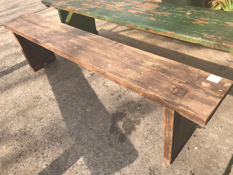 Vintage industrial European bench seat  #2291/4