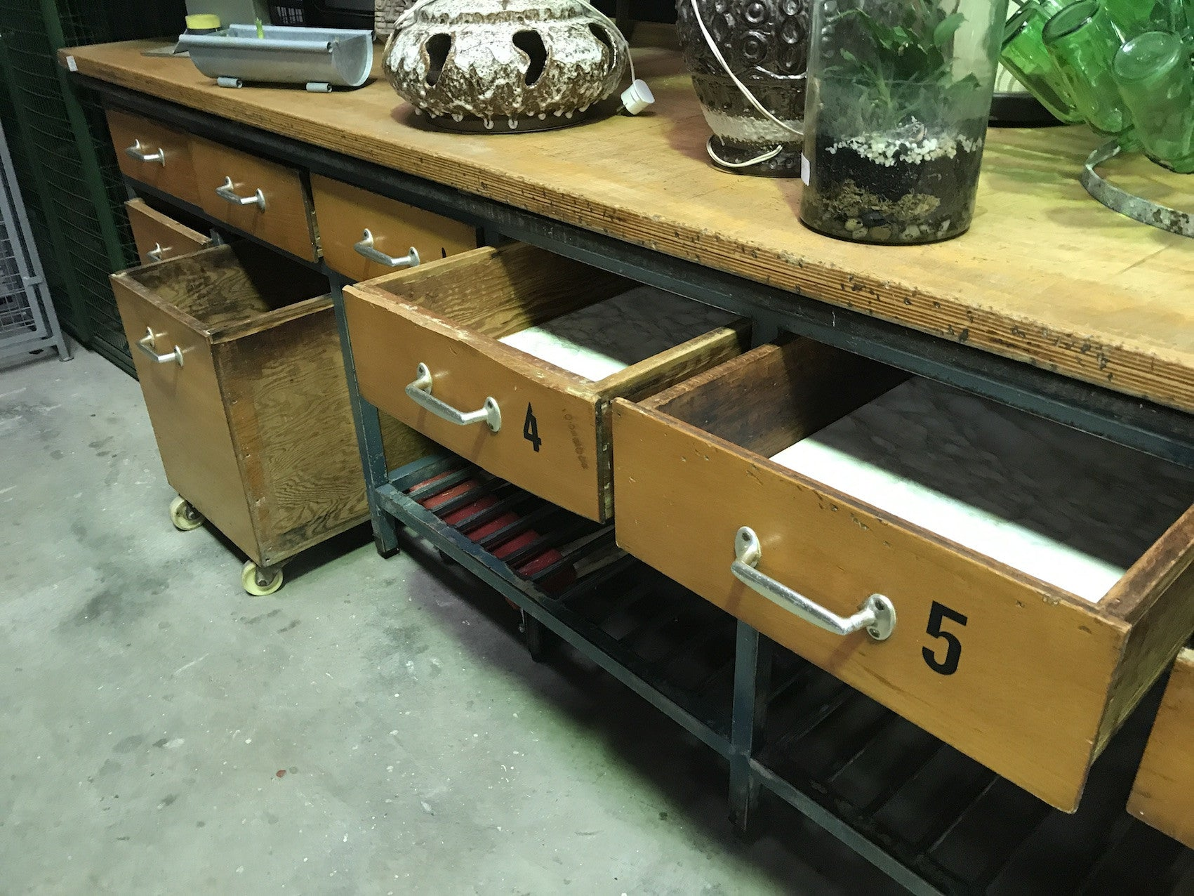 ... Vintage Industrial French Bakers Table #1795 ...