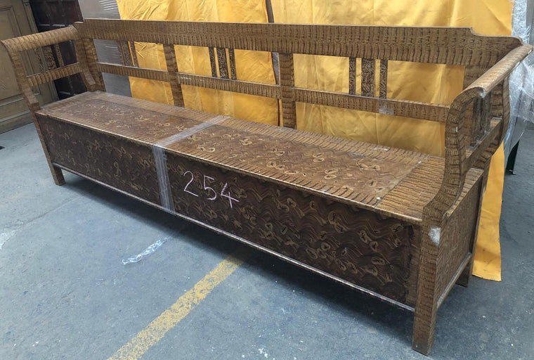 European wooden kitchen box bench  #2993/17 coming in Sep/october container