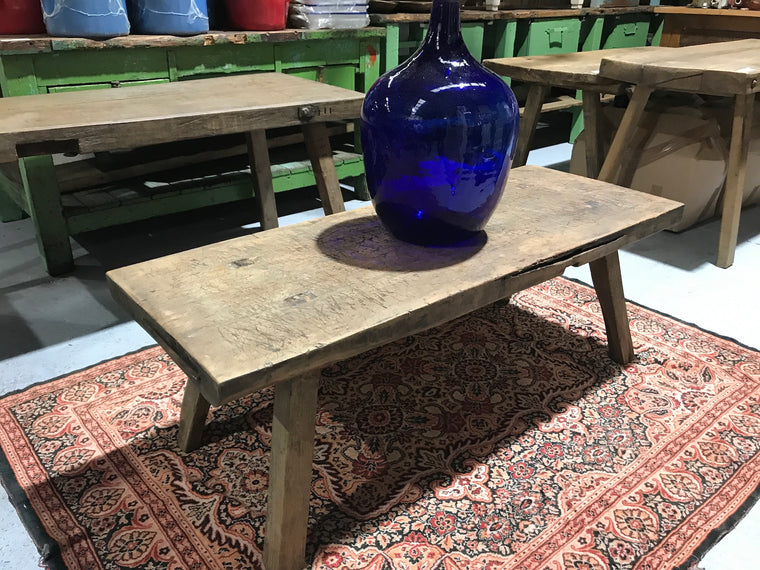 Vintage industrial European wooden COFFEE table  #2301/1