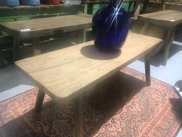 Vintage industrial European wooden COFFEE table  #2302/2