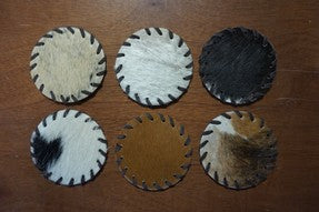 Vintage Cow hide Coasters # 2181