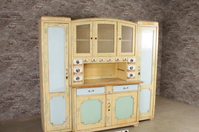 Vintage  European wooden kitchen cabinet #2530