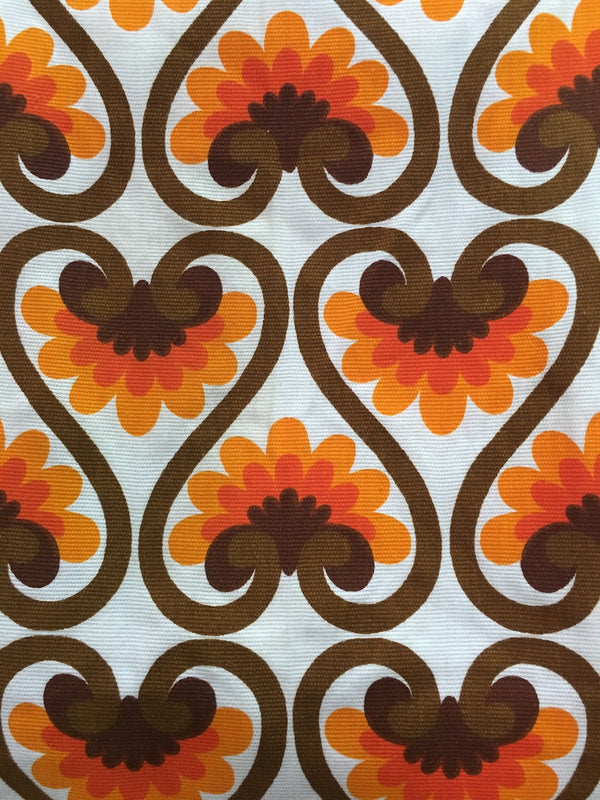 Old Vintage 70s European Fabric #m10