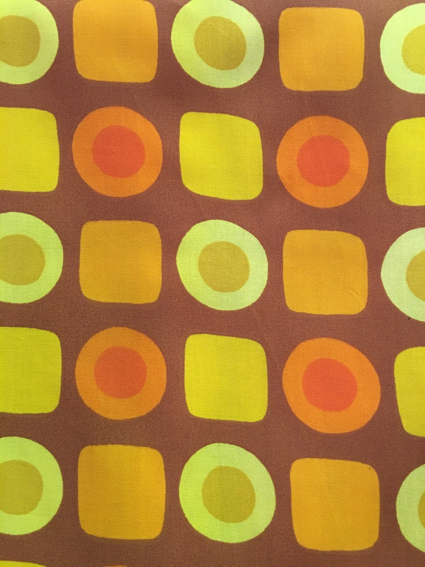 Old Vintage 70s European Fabric #m11