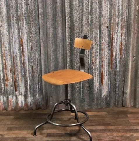 Vintage industrial Atelier machinist desk chair #2529
