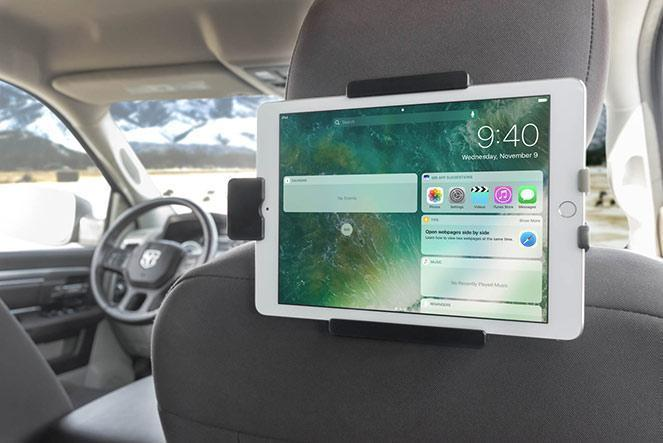 Backseat Entertainment: Headrest Tablet Mount