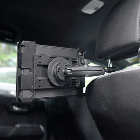 Headrest Mount with Long B-Size Arm and Tablet Cradle
