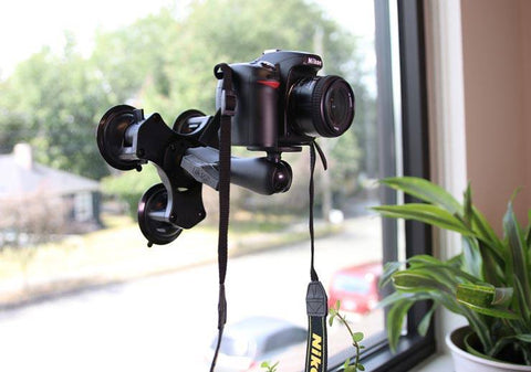 triple suction ram mount with camera dslr adapter