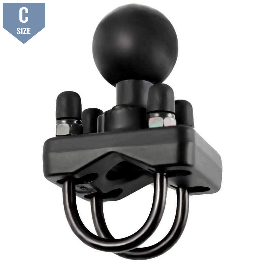 "RAM Double U-Bolt Base with 1.5"" C Ball (RAM-235U) - Modest Mounts"
