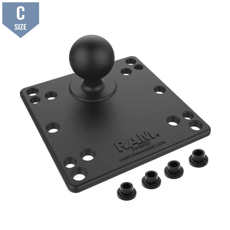 RAM 100x100mm VESA Plate with C Ball (RAM-246U) - Modest Mounts