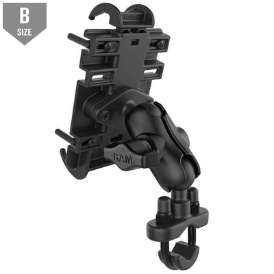 RAM Quick-Grip™ Phone Mount w Handlebar U-Bolt Base (RAM-B-149Z-A-PD3) - Modest Mounts