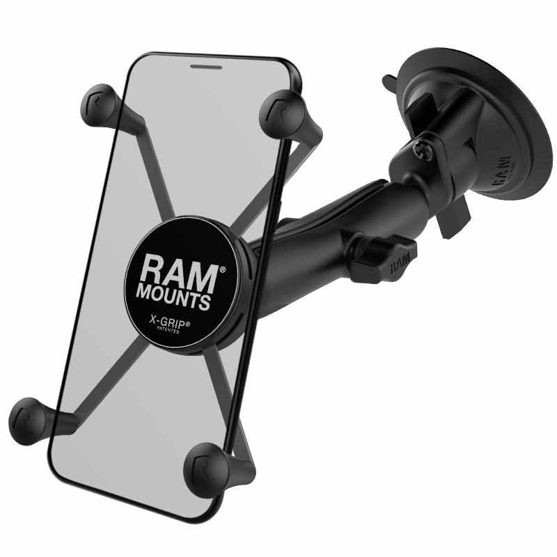 RAM Long Arm Suction Mount w Large X-Grip (RAM-B-166-C-UN10U) - Modest Mounts