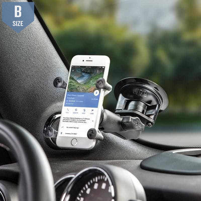 RAM Twist-Lock Suction Mount w X-Grip Phone Holder (RAM-B-166-UN7U) - Modest Mounts