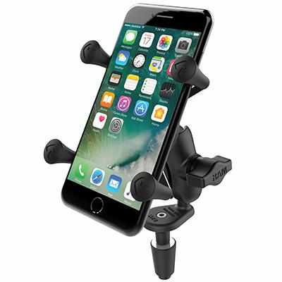 RAM Fork Stem Mount w X-Grip Phone Cradle (RAM-B-176-A-UN7) - Modest Mounts