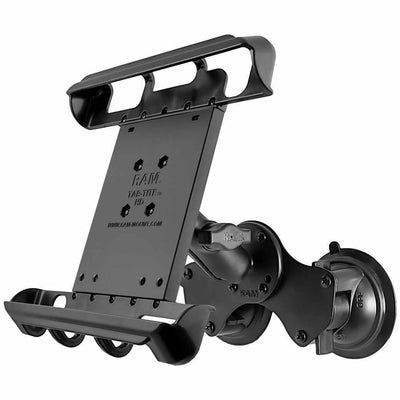 "RAM Double Suction w Cradle for 10"" Tablets (RAM-B-189-TAB8U)-Modest Mounts"