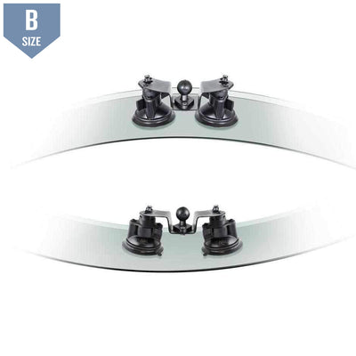 "RAM Dual Pivot Suction Cup Base w 1"" Ball (RAM-B-189B-PIV1U) - Modest Mounts"
