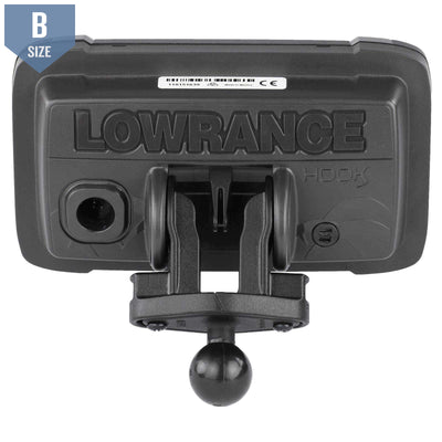 "RAM 1"" Ball Adapter Lowrance Hook2 Series (RAM-B-202-LO12)-Modest Mounts"