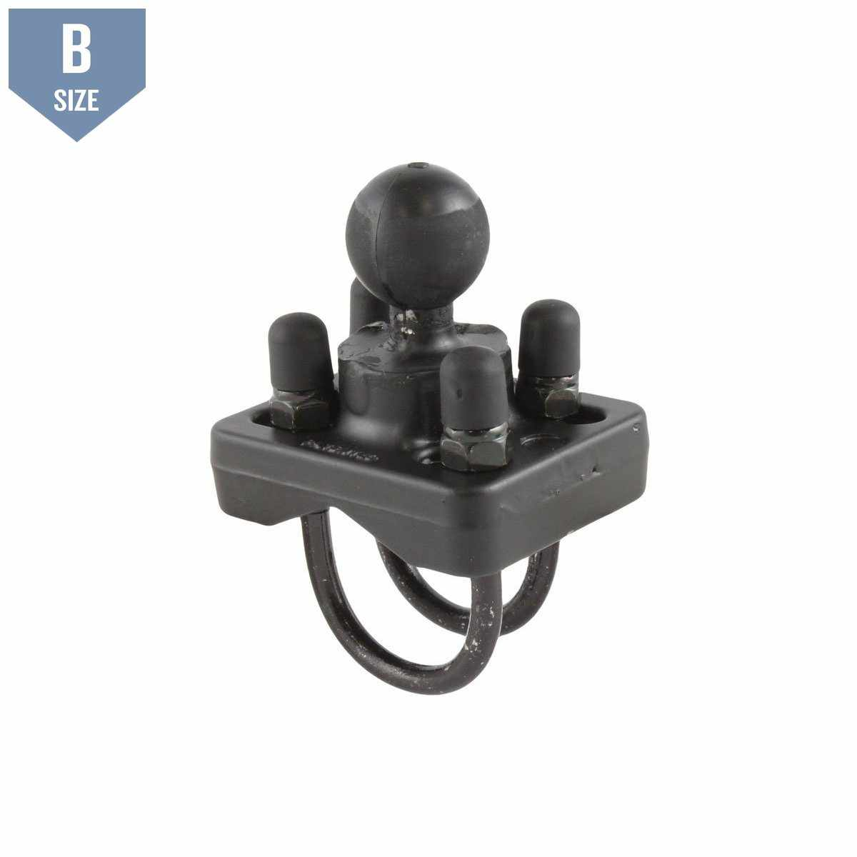 "RAM Double U-Bolt Base w 1"" B Ball for 1"" - 1.25"" Rails (RAM-B-235U) - Modest Mounts"