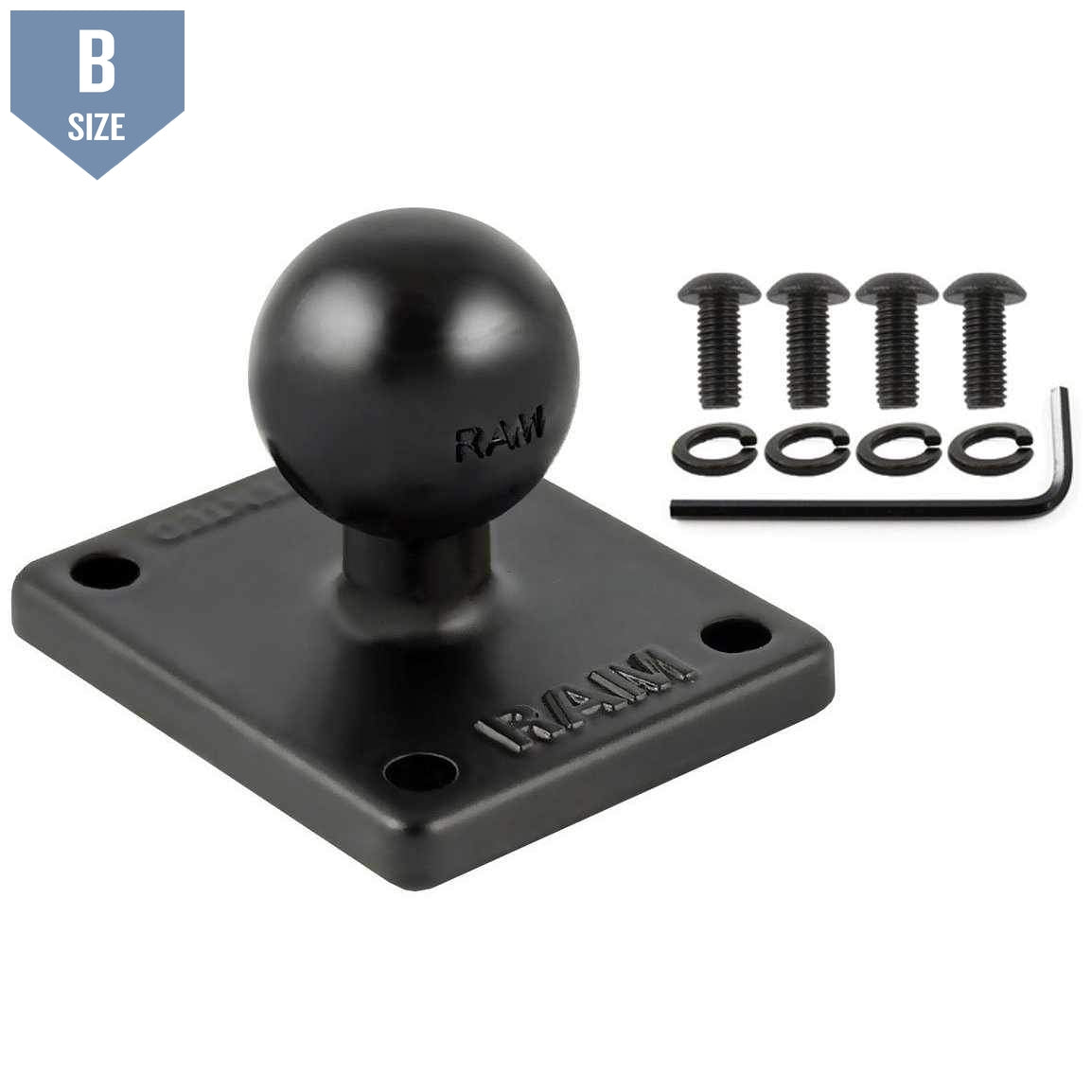 RAM Square Base for TomTom Rider 2 B Size (RAM-B-347U-TOM1) - Modest Mounts