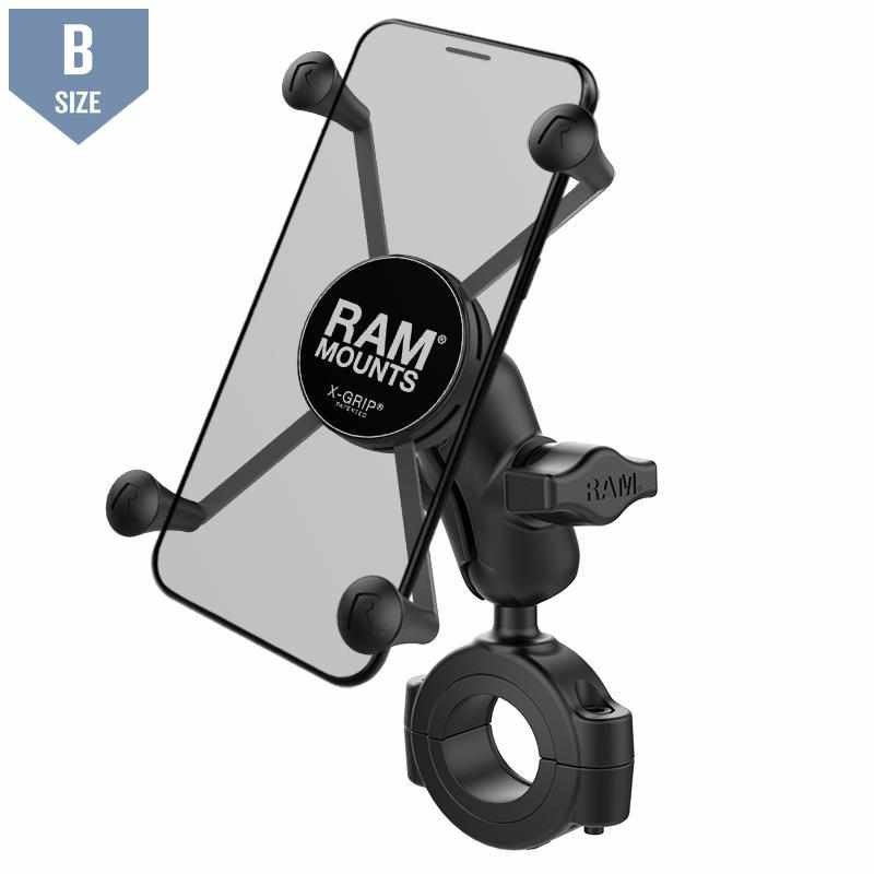 "RAM 1.125"" - 1.5"" Handlebar Mount UN10 X-Grip (RAM-B-408-112-15-A-UN10) - Modest Mounts"