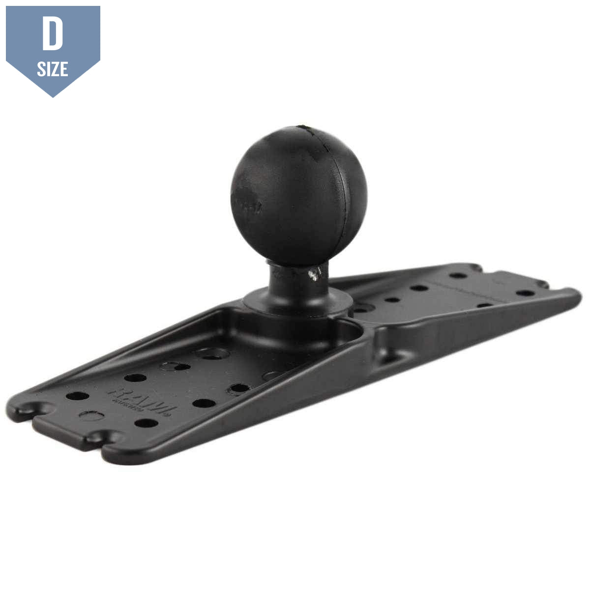 "RAM 11"" x 3"" Universal Electronics Base with 2.25"" Ball (RAM-D-111BU) - Modest Mounts"
