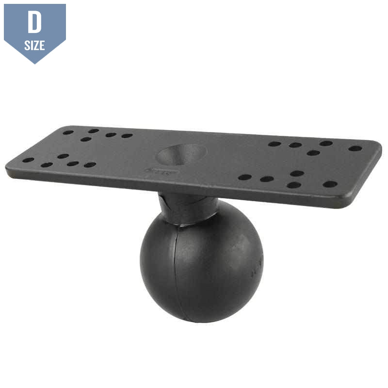 "RAM 6.25"" x 2"" Marine Electronics Base with 2.25"" Ball (RAM-D-115BU) - Modest Mounts"