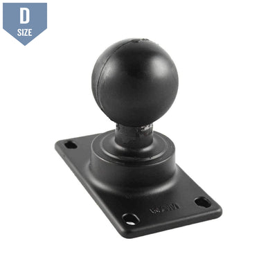 RAM 50x100mm VESA Plate with D Ball (RAM-D-243U)-Modest Mounts