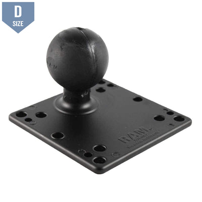 RAM 100 & 75mm VESA Plate with D Ball (RAM-D-246U) - Modest Mounts