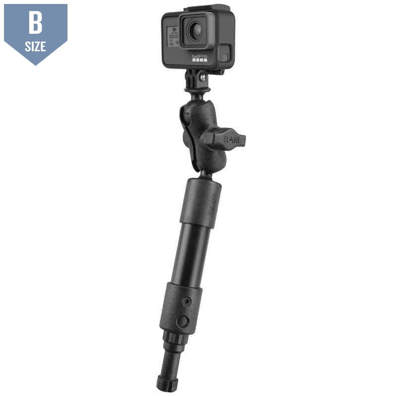 "RAM 9"" Tough-Pole GoPro Camera Mount (RAP-114-PSP-4-A-GOP1) - Modest Mounts"
