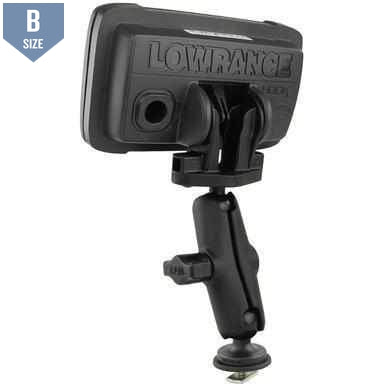 "RAM 1"" Track Mount for Lowrance Hook2-4 & 5 (RAM-B-LO12-354-TRA1) - Modest Mounts"